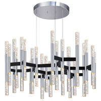 Sonneman Champagne Sonata 48 Light Pendant in Polished Chrome and Black 2278.54