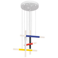Axes LED 18 inch Black/Red/Yellow/Blue/White Pendant Ceiling Light
