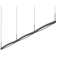 Sonneman 22QKCL03120PHA Ola LED 82 inch Satin Black Pendant Ceiling Light