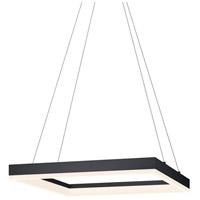 Sonneman 2304.25 Corona LED 19 inch Satin Black Pendant Ceiling Light