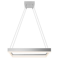 Sonneman Corona 23-inch LED Square Pendant in Bright Satin Aluminum 2306.16