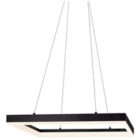 Sonneman Corona 23-inch LED Square Pendant in Satin Black 2306.25