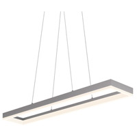 Sonneman Corona 43-inch LED Rectangle Pendant in Bright Satin Aluminum 2310.16