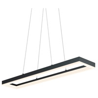 Sonneman Corona 43-inch LED Rectangle Pendant in Satin Black 2310.25
