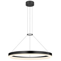 Corona LED 24 inch Satin Black Pendant Ceiling Light