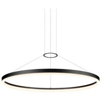 Sonneman 2318.25 Corona LED 48 inch Satin Black Pendant Ceiling Light