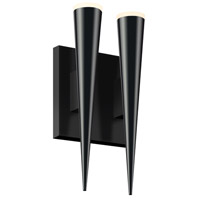 Sonneman Micro Cone 2 Light LED Double Sconce in Satin Black 2382.25