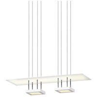 Sonneman Chromaglo Bright White LED Reflector Pendant in Satin White 2412.03
