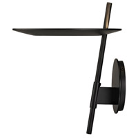Sonneman 2416.25 Ringlo LED 10 inch Satin Black Wall Torchiere Wall Light