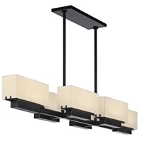 Sonneman Aspen 6 Light LED Bar Pendant in Black Brass 2466.51