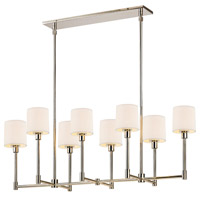 Sonneman Embassy 8 Light LED Bar Pendant in Polished Nickel 2474.35