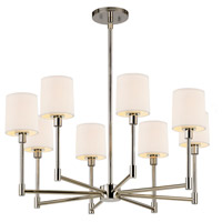 Sonneman Embassy 8 Light LED Pendant in Polished Nickel 2476.35
