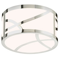 Sonneman Haiku 8-inch LED Round Surface Mount in Polished Nickel 2536.35