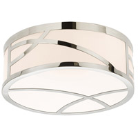 Sonneman 2537.35 Haiku LED 12 inch Polished Nickel Surface Mount Ceiling Light