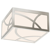 Sonneman Haiku 8-inch LED Square Surface Mount in Satin Nickel 2538.13
