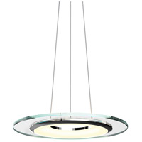 Float LED 18 inch Polished Chrome and Clear Pendant Ceiling Light