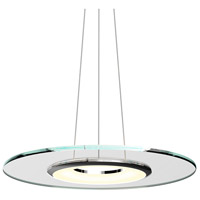 Float LED 24 inch Polished Chrome and Clear Pendant Ceiling Light