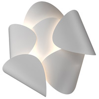 Lotus LED 13 inch Satin White Wall Sconce Wall Light