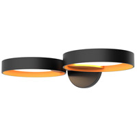 Sonneman 2651.25A Light Guide Ring LED 17 inch Satin Black Wall Sconce Wall Light in Apricot