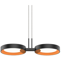 Sonneman 2653.25A Light Guide Ring LED 19 inch Satin Black Pendant Ceiling Light in Apricot