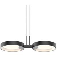 Sonneman 2653.25W Light Guide Ring LED 19 inch Satin Black Pendant Ceiling Light in White