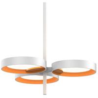 Sonneman 2654.03A Light Guide Ring LED 19 inch Satin White Pendant Ceiling Light in Apricot