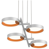 Light Guide Ring LED 38 inch Satin White Pendant Ceiling Light in Apricot