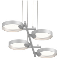 Light Guide Ring LED 38 inch Satin White Pendant Ceiling Light