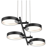 Light Guide Ring LED 38 inch Satin Black Pendant Ceiling Light in White