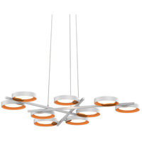 Sonneman 2656.03A Light Guide Ring LED 48 inch Satin White Pendant Ceiling Light in Apricot
