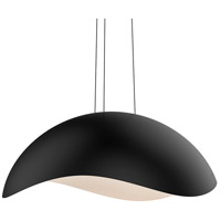 Waveforms LED 35 inch Satin Black Pendant Ceiling Light