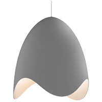 Waveforms LED 23 inch Dove Grey Pendant Ceiling Light