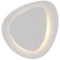 Abstract Panels LED 15 inch Textured White ADA Wall Sconce Wall Light