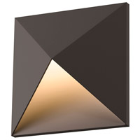 Prism LED 8 inch Textured Bronze Indoor-Outdoor Sconce, Inside-Out