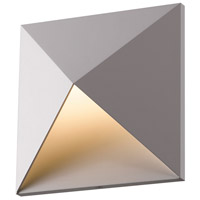 Prism LED 8 inch Textured Gray Indoor-Outdoor Sconce, Inside-Out