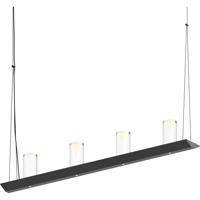 Sonneman 2857.25-SC Votives LED 32 inch Satin Black Pendant Ceiling Light