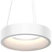 Sonneman 2862.03 Tromme LED 18 inch Satin White Pendant Ceiling Light