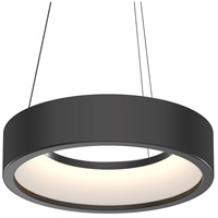 Sonneman 2862.25 Tromme LED 18 inch Satin Black Pendant Ceiling Light