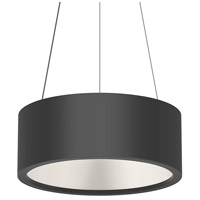 Sonneman 2863.25 Tromme LED 18 inch Satin Black Pendant Ceiling Light