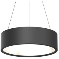 Sonneman 2865.25 Tromme LED 24 inch Satin Black Pendant Ceiling Light