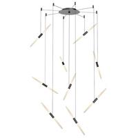 Sonneman 2893.25 Ballet LED 21 inch Satin Black Pendant Ceiling Light