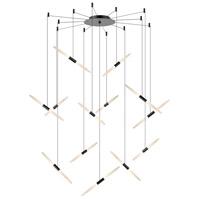 Sonneman 2895.25 Ballet LED 27 inch Satin Black Pendant Ceiling Light