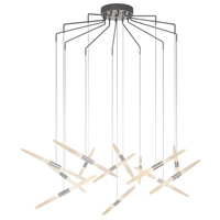 Sonneman 2896.16 Ballet LED 27 inch Bright Satin Aluminum Pendant Ceiling Light
