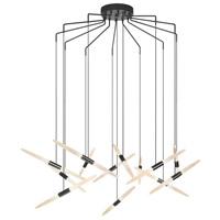 Sonneman 2896.25 Ballet LED 27 inch Satin Black Pendant Ceiling Light