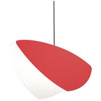 Sonneman 2901.25-BR Papillons LED 13 inch Satin Black Pendant Ceiling Light in Satin Red