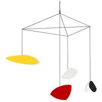 Sonneman 2902.25M Papillons LED 31 inch Satin Black Pendant Ceiling Light in Red, Yellow