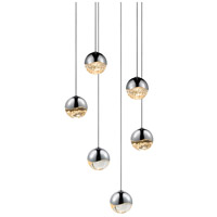 Sonneman 2915.01-SML Grapes LED 11 inch Polished Chrome Cluster Pendant Ceiling Light in Clear Glass Lens