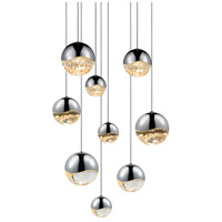 Sonneman Grapes 9 Light LED Cluster Pendant in Polished Chrome 2916.01-AST