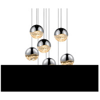 Sonneman Grapes 9 Light LED Cluster Pendant in Polished Chrome 2916.01-LRG
