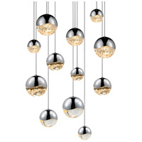 Sonneman Grapes 12 Light LED Cluster Pendant in Polished Chrome 2917.01-AST